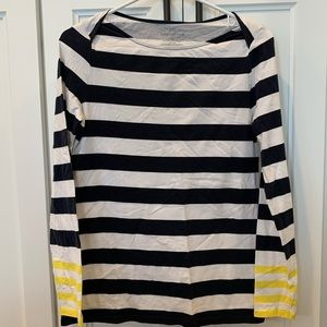 Ann Taylor boatneck long sleeve tee, size M